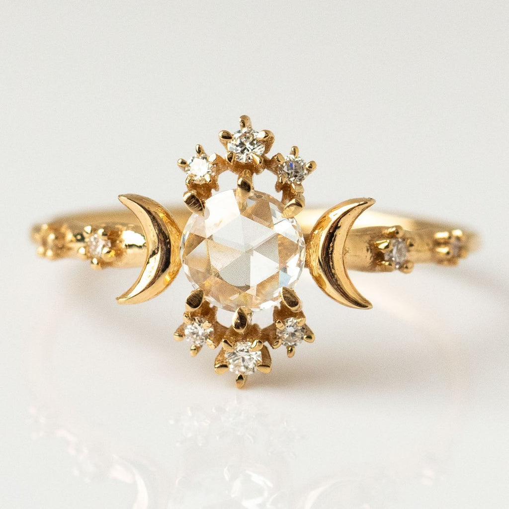 Rosecut Diamond Wandering Star Ring