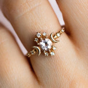 Wandering Star Ring with Pink Morganite rings Sofia Zakia