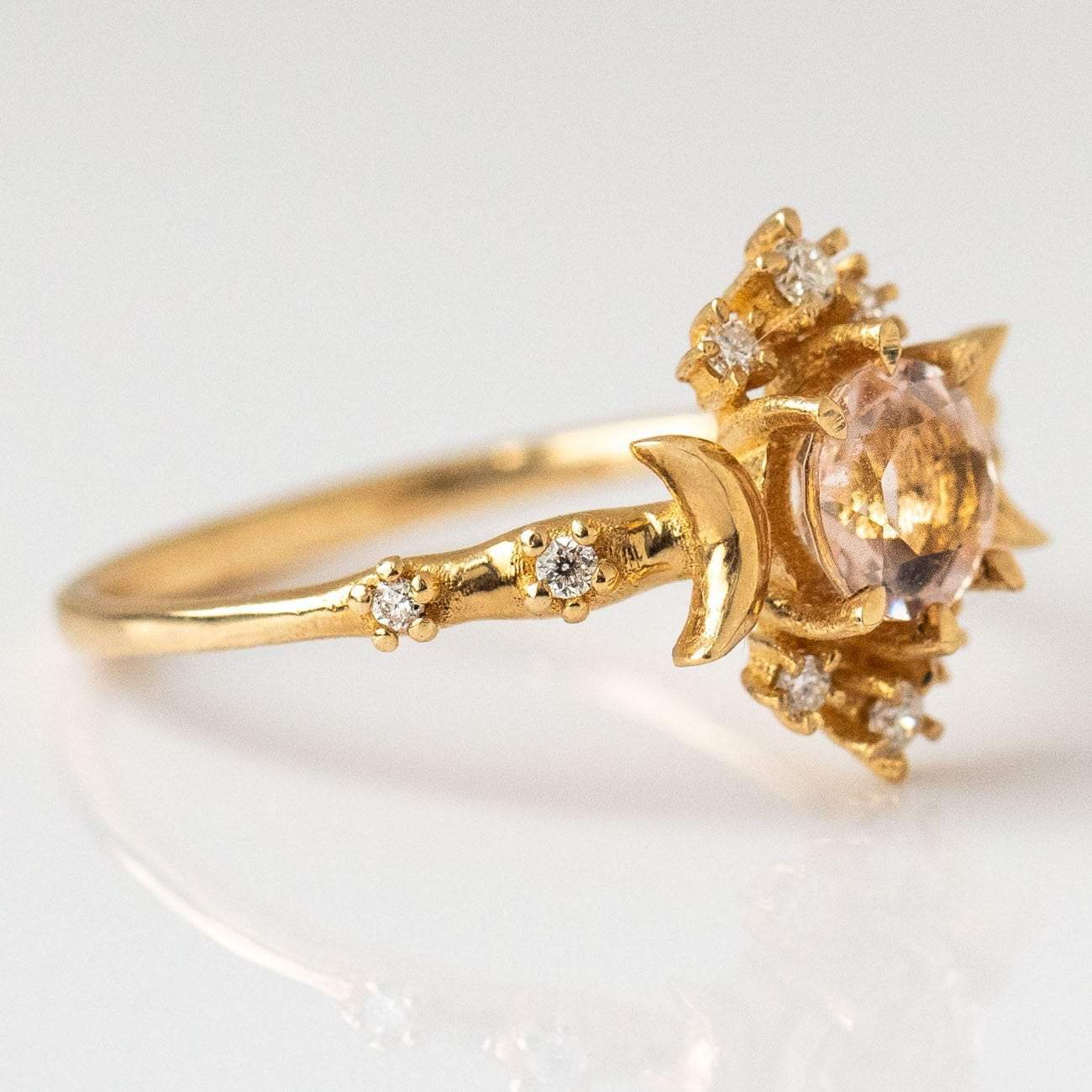 797fc553374 Wandering Star Ring with Pink Morganite
