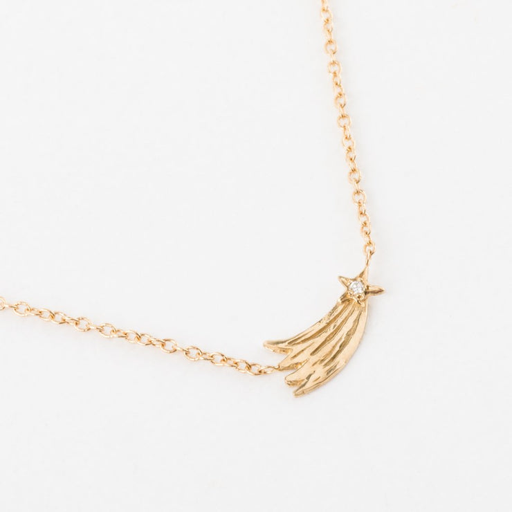 Simple Diamond Shooting Star Necklace - necklaces - Sofia Zakia local eclectic