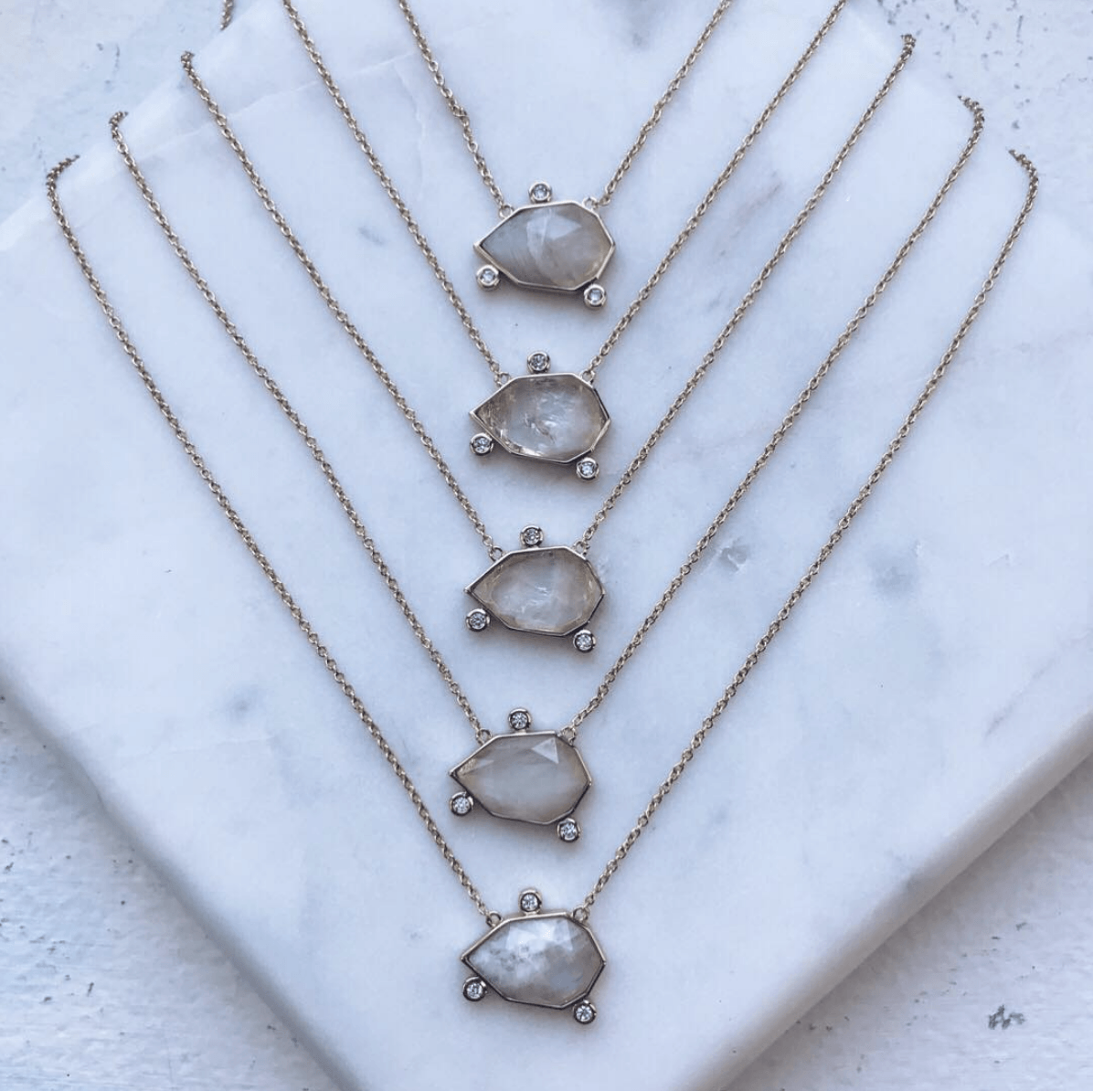 Orion Gemstone Necklace with Moonstone