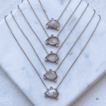Orion Gemstone Necklace with Moonstone - necklaces - Elizabeth Stone local eclectic