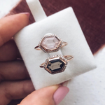 Smokey Quartz and Diamond Royale Ring - rings - La Kaiser local eclectic