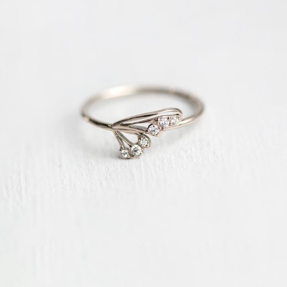 Flutter By Ring in White Gold - rings - Melanie Casey local eclectic