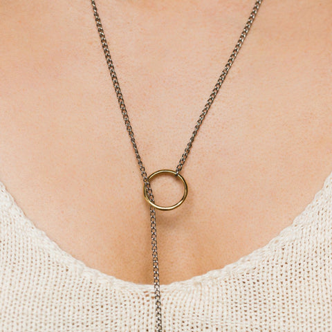 Silver & Brass Chain Wrap - necklaces - Luiny local eclectic