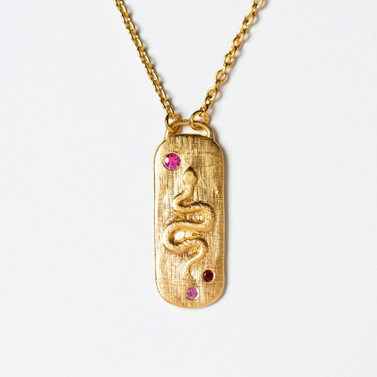 neri necklace in gold unique yellow gold snack pendant necklace