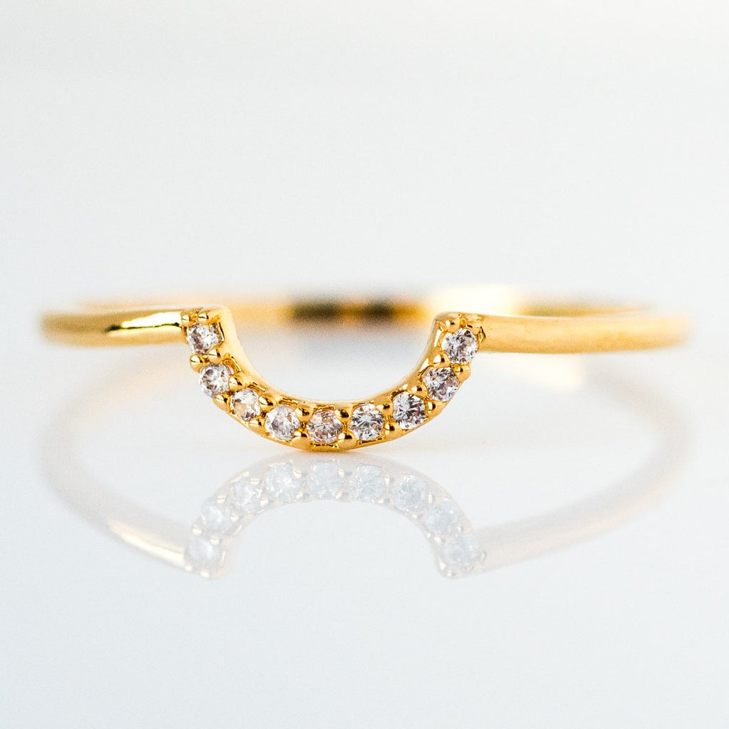 Tai Jewelry Gold Stacking Ring