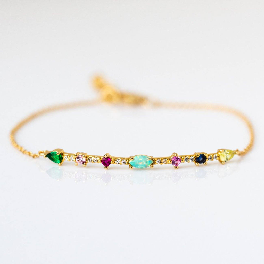 Colorful Mixed Stone Bracelet