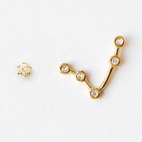 Aries Constellation Studs - earrings - Tai Jewelry local eclectic