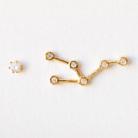 Taurus Constellation Studs - earrings - Tai Jewelry local eclectic