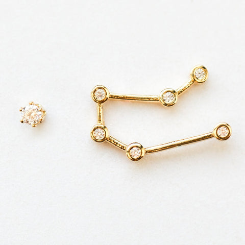 Gemini Constellation Studs - earrings - Tai Jewelry local eclectic