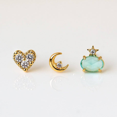 Love You to the Moon & Back Stud Earring Set