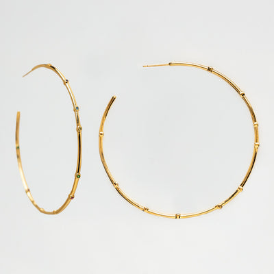 Pop of Color Big Hoop Earrings statement hoops yellow gold tai jewelry