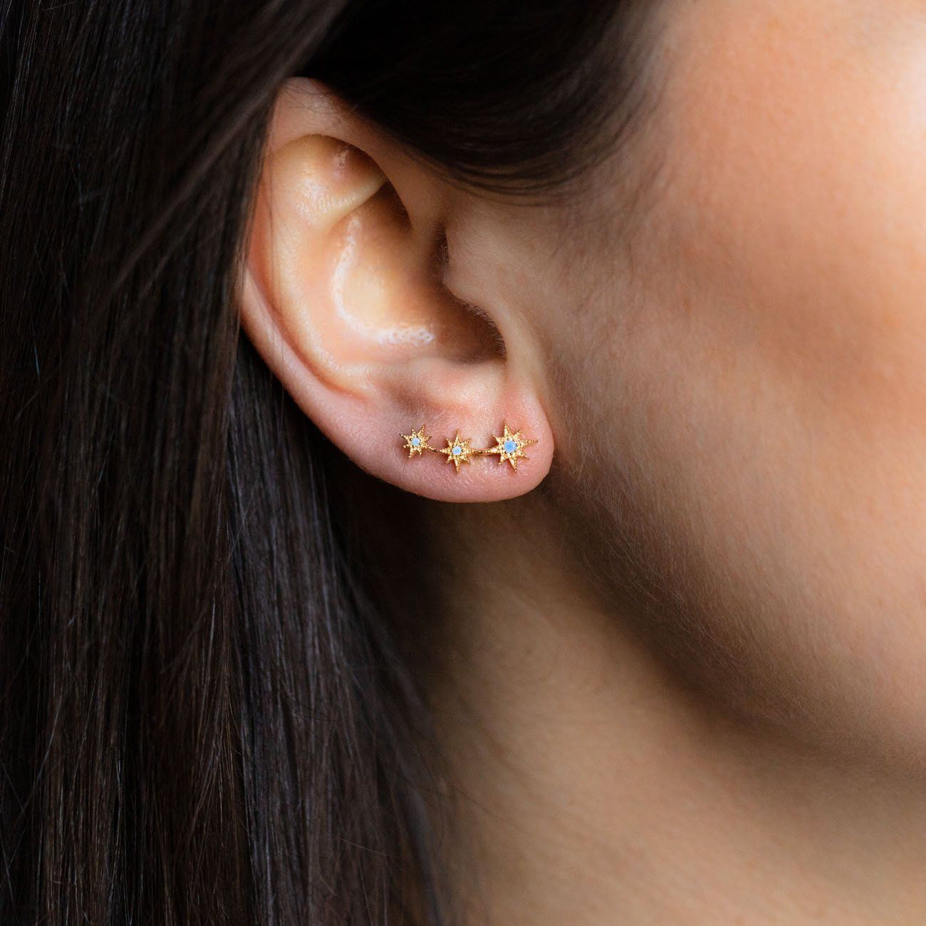 cf83663a8 local eclectic | Opal Starburst Ear Crawlers