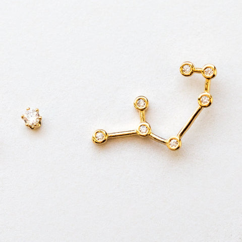 Sagittarius Constellation Studs - earrings - Tai Jewelry local eclectic