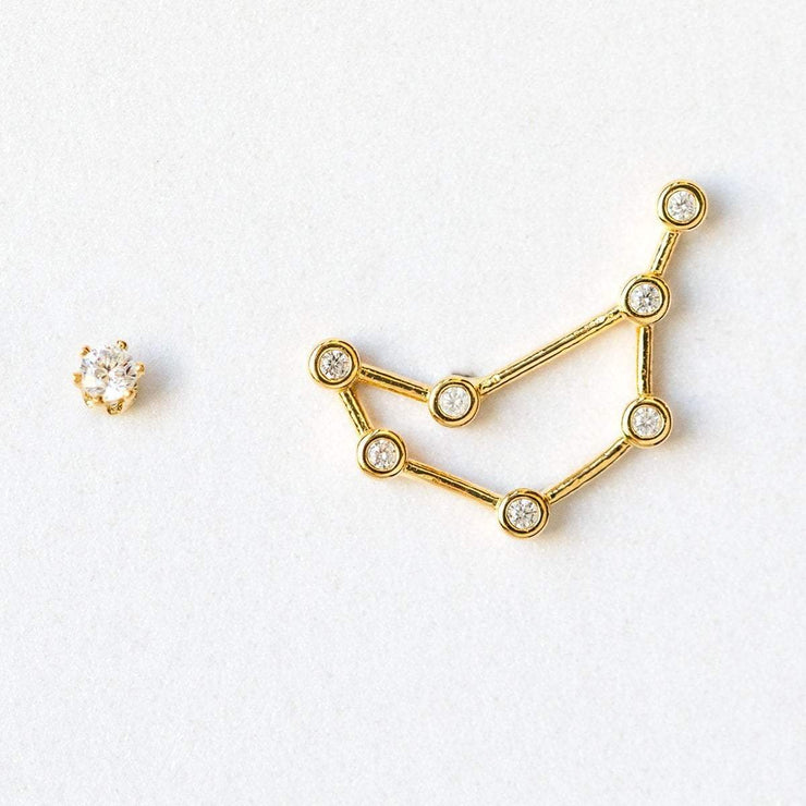 Capricorn constellation stud earrings, personalized gift for her
