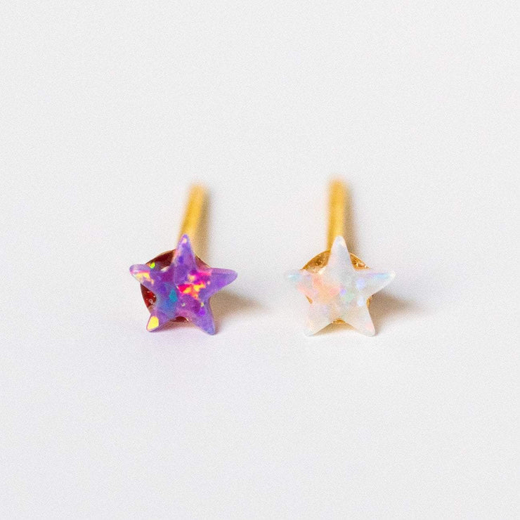 confetti star stud earring pack unique celestial jewelry