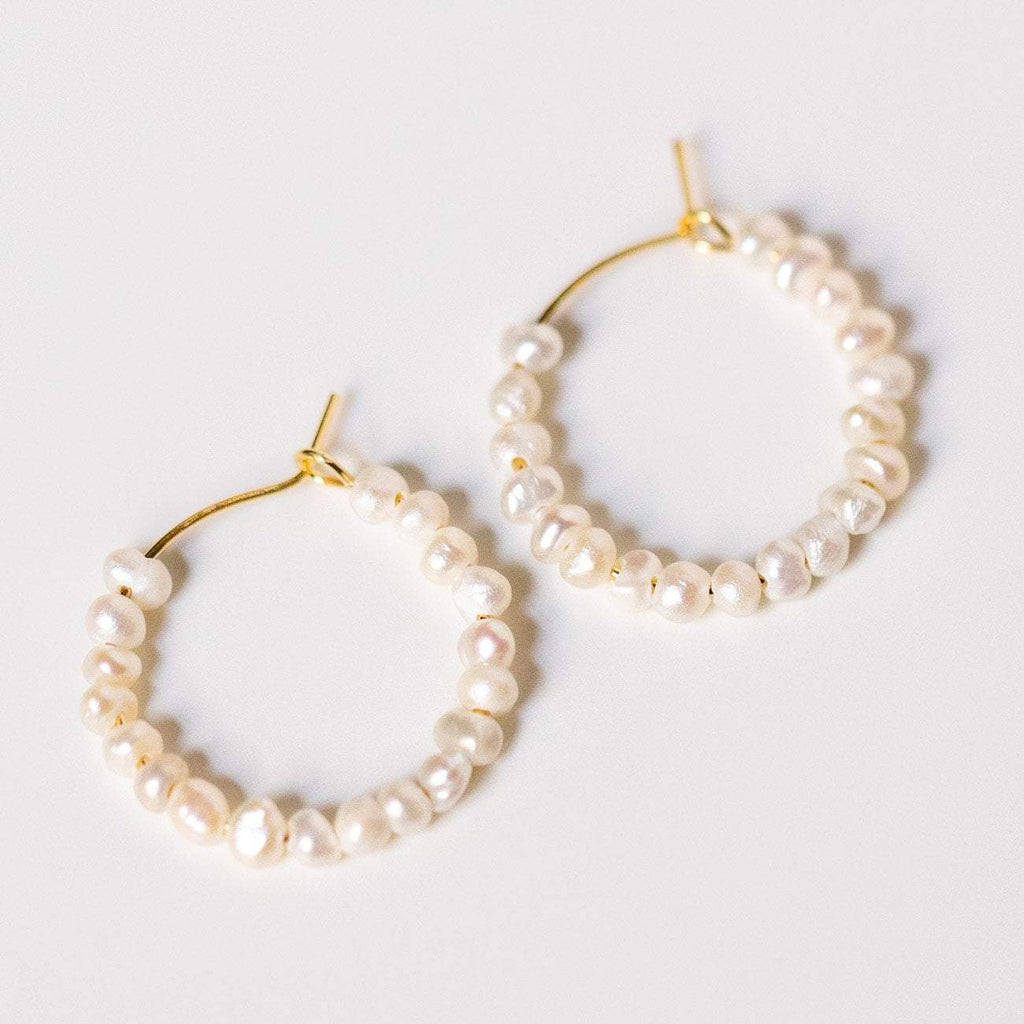 freshwater pearl hoop earrings modern yellow gold jewelry