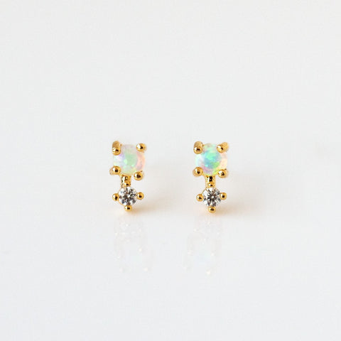 Opal Sprinkle Stud Earrings