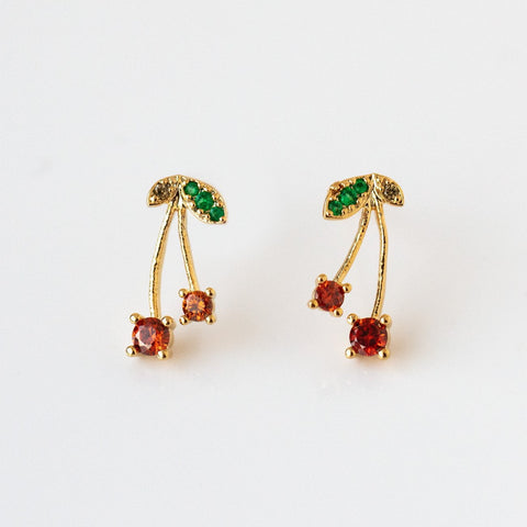 QT Cherry Stud Earrings