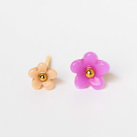 flower stud earring pack dainty enamel floral earrings