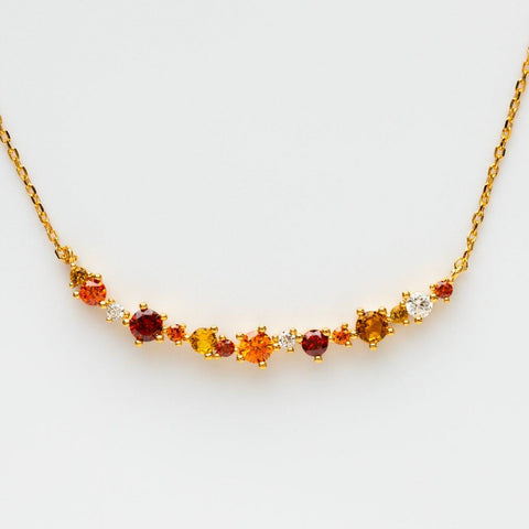 Ombre Arc Birthstone Necklace