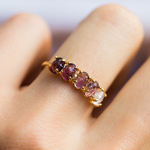 February Ombré Birthstone Ring - rings - Tai Jewelry local eclectic