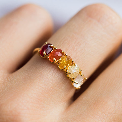 January Ombré Birthstone Ring - rings - Tai Jewelry local eclectic