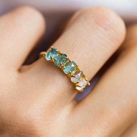 December Ombré Birthstone Ring - rings - Tai Jewelry local eclectic