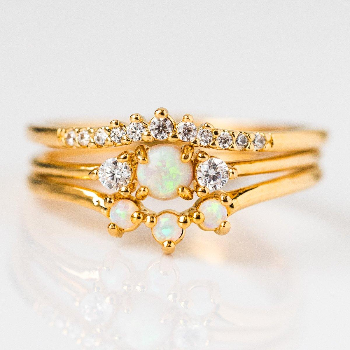 344020a12f Opal Romance Triple Stacking Ring Set - rings - Tai Jewelry local eclectic