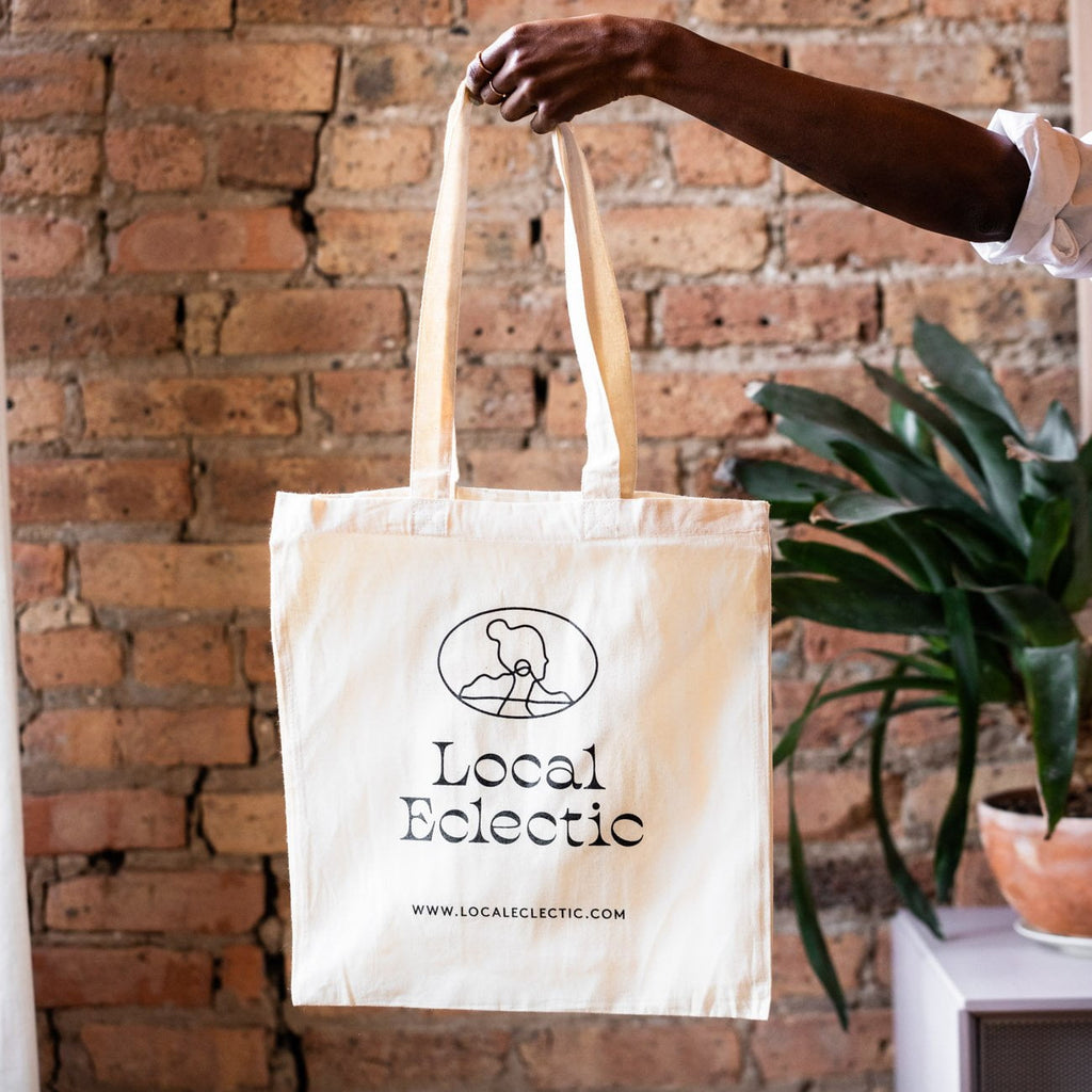 Local Eclectic Designed Tote Bag White