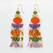 Stacked Shape Beaded Earrings handmade statement unique colorful jewelry take shape studio