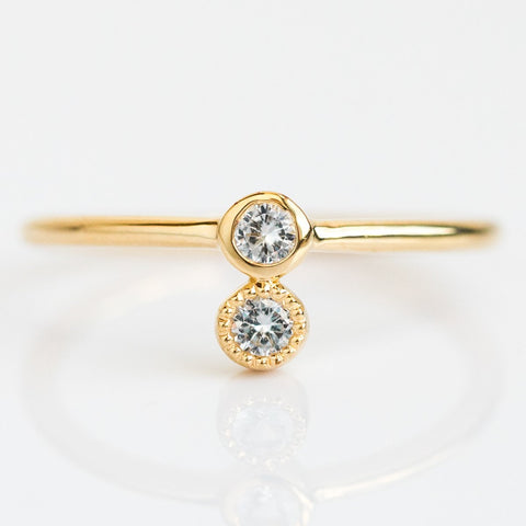 Thelma Ring with White Topaz - rings - Euclide local eclectic
