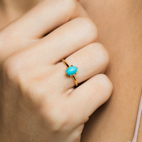 Tryst Turquoise Band - rings - Minette local eclectic