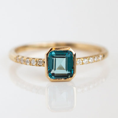 Blue Sapphire and Diamond Ring, Unique Fine Jewelry from Local Eclectic