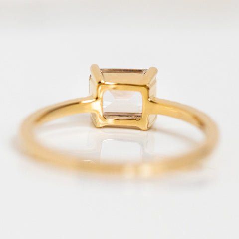 monroe ring in yellow gold solid fine minimal dainty solid gold jewelry