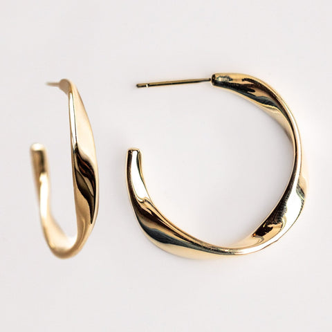 Organic Twisted Hoops