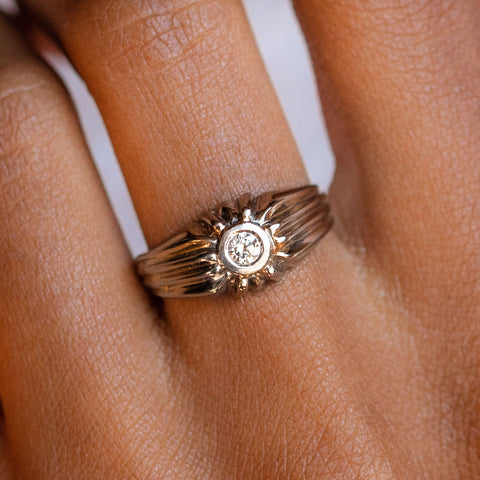 Vintage 18k Diamond Deco Ring