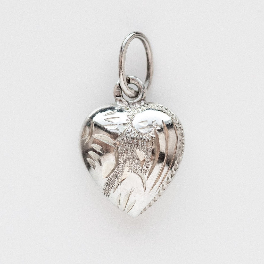 vintage silver heart charm unique silver jewelry
