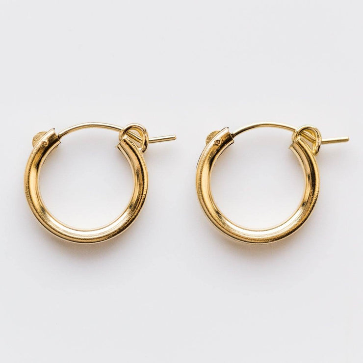 Small Pearl Hoops in Gold - earrings - Wolf Circus local eclectic