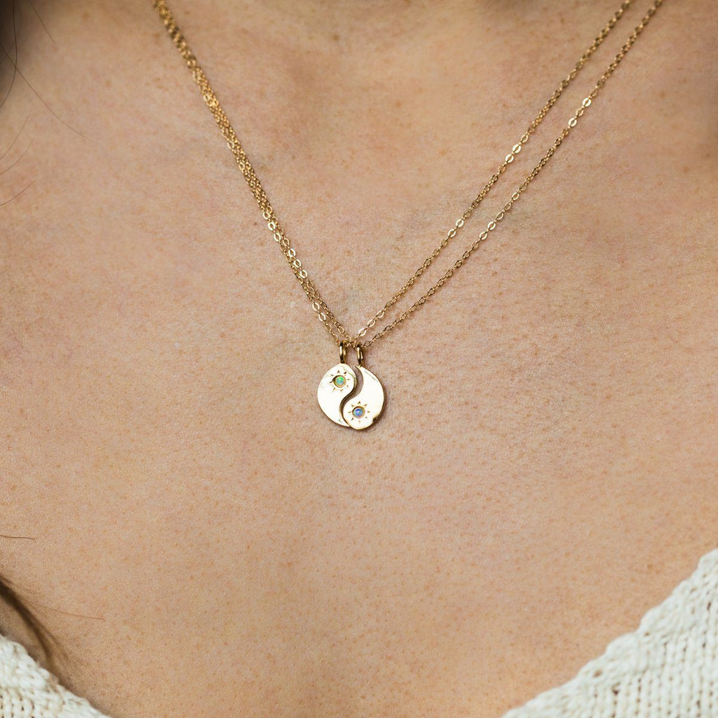 Yin + Yang BFF Necklace Set - necklaces - Merewif local eclectic