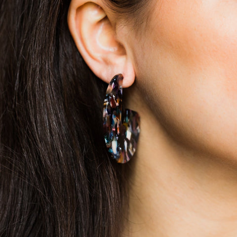 Riri Earrings in Rosado - earrings - Casa Clara local eclectic