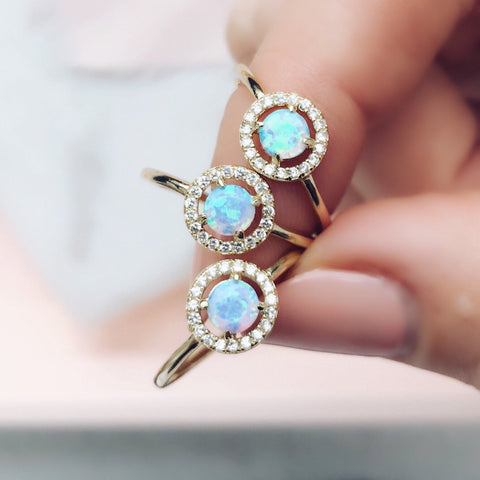Baby Sarah Louise Blue Opal Ring - rings - Melinda Maria local eclectic