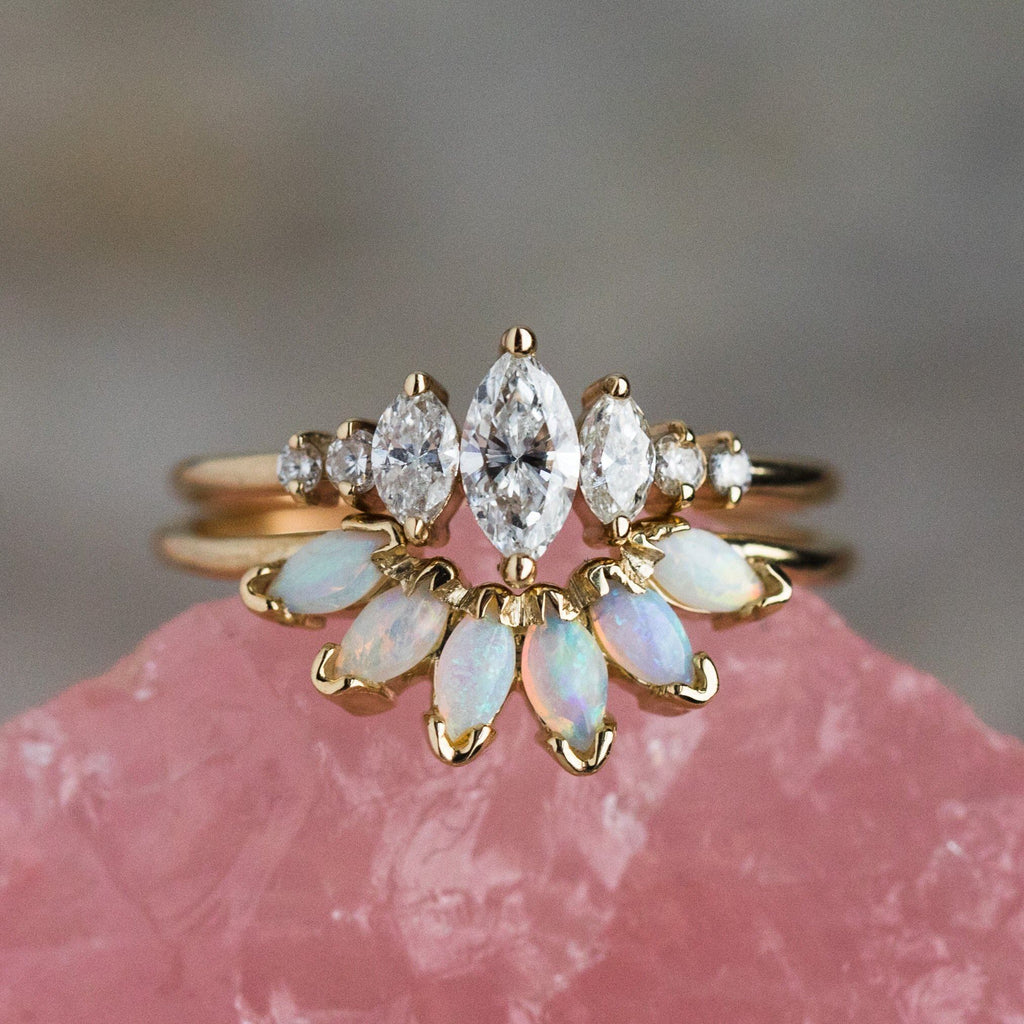 14K Opal Caribbean Sunrise Ring - rings - La Kaiser local eclectic
