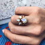 Opal & Diamond Archer Ring - rings - La Kaiser local eclectic