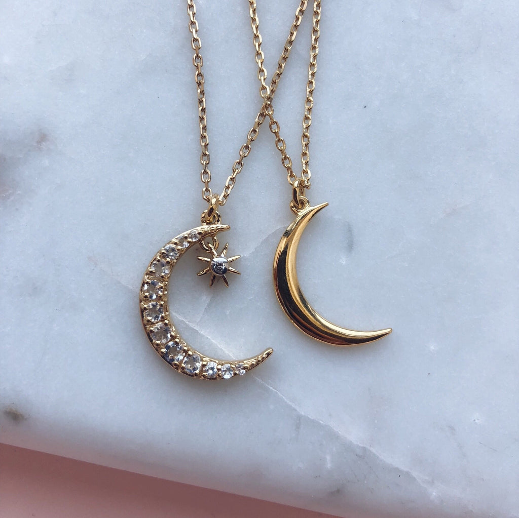 New Moon Pendant - necklaces - Carrie Elizabeth Jewelry local eclectic