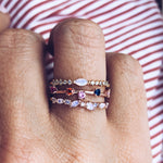 Pink Lily Ring in Rose Gold - rings - Girls Crew local eclectic
