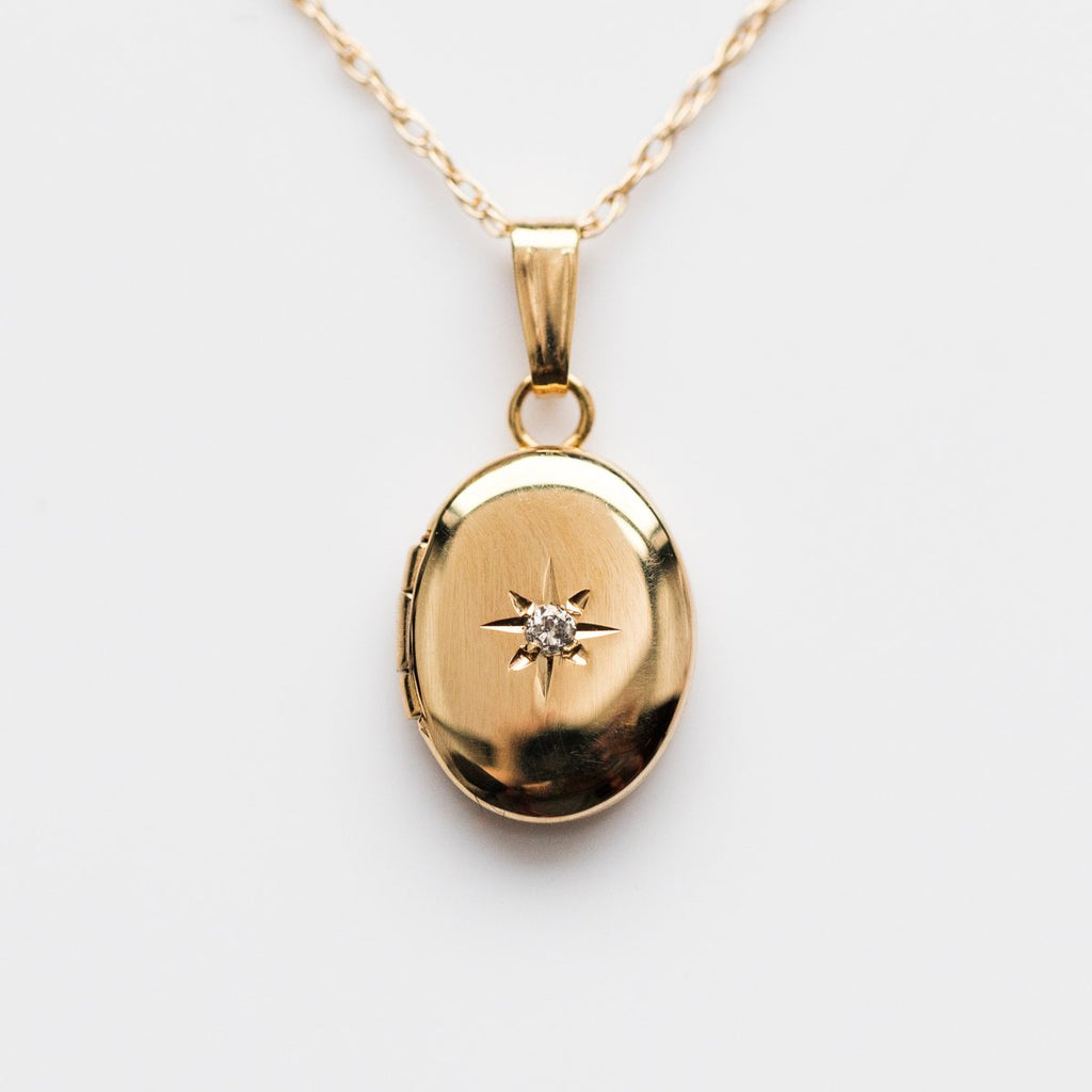 14KT Gold Forever Closer To My Heart Diamond Locket - necklaces - La Kaiser local eclectic