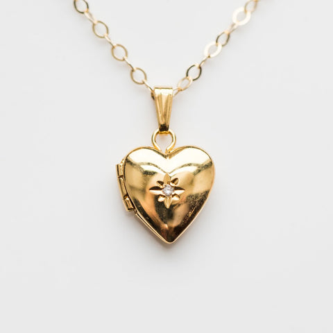 Mini Heart Locket - necklaces - La Kaiser local eclectic