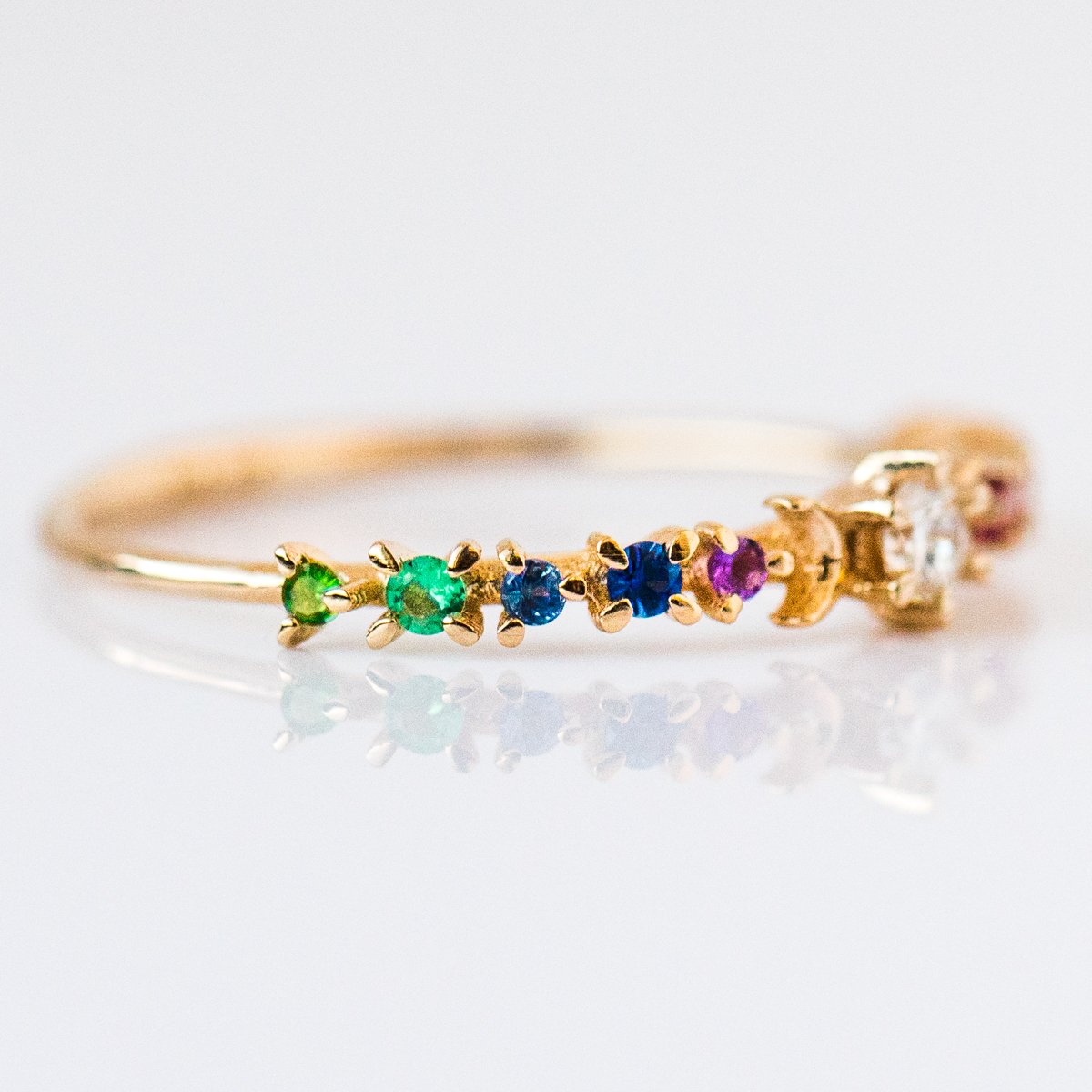 090ca91b5e4 Rainbow Stardust Ring - rings - Sofia Zakia local eclectic